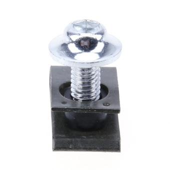 10pcs 5mm Fairing Bolts Spire Speed Fastener Clip Screw Spring Nuts(Silver) - intl - 5
