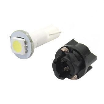 10Pcs Auto Car T5 0.2W 1 LED Light Instrument Panel Dashboard Lamp Bulb DC 12V - intl - 5
