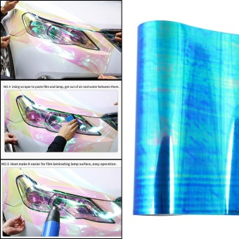 120*30cm Shiny Chameleon Auto Car Styling Headlights Taillights Translucent Film Lights Change Color Tint Car Protective Film Stickers - intl