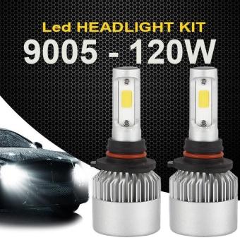120W 9005 HB3 12000LM COB LED Car Headlight Kit White Beam 6000K Bulb 2-Side - intl - 2