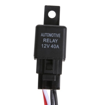12V 40A LED Work Light Wiring Harness Relay Kit ON/OFF Switch - intl - 2