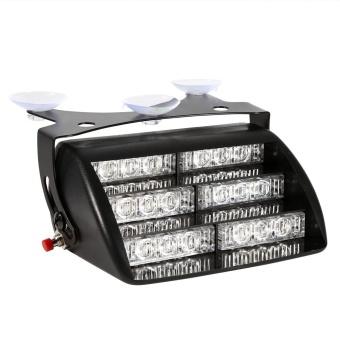 12V Car Police Strobe Lamp 18 LEDs Dash 3 Flash Lights Red - intl - 3