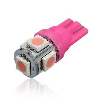 12V T10 194 168 W5W 5-SMD LED Car Light Bulbs(Purple and Pink)