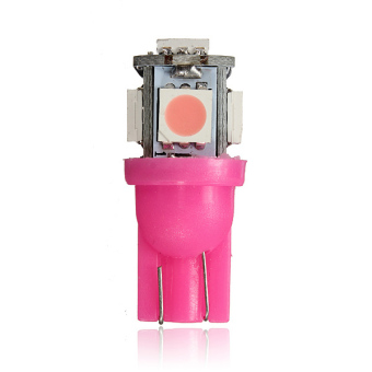 12V T10 194 168 W5W 5-SMD LED Car Light Bulbs(Purple and Pink) - picture 2