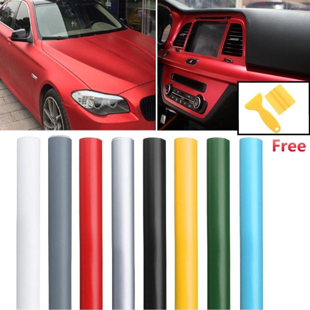 ... 13 Color Premium Matte Flat Auto Car Vinyl Wrap Sticker Decal Bubble Air Release (Army ...