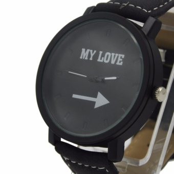 1315 My Love Leather Band Watch (Black) #0127 - 2