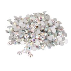 1400pcs glass bolehdeals ab acrylic crystal round flat back rhinestones gems beads ss 10 white