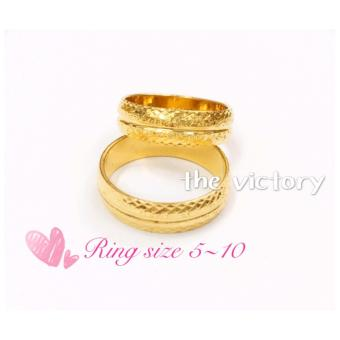 14K Gold Plated Couple Ring - 2