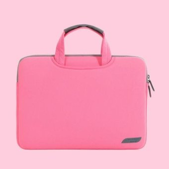 15.6 inch Lightweight Portable Sleeve Laptop Bag - Rose - intl