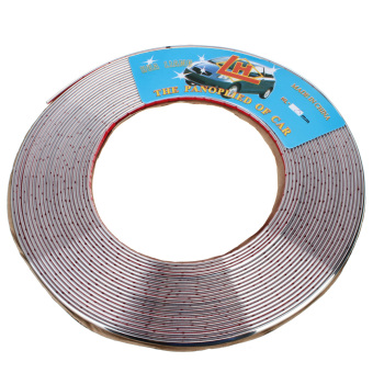 15M 6mm Car Auto Chrome Moulding Trim Strip For Window Bumper Grille Silver - 2