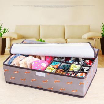 17 Cell Socks Underwear Ties Drawer Closet Home Organizer StorageBox Case (Pink Cherry) - intl - 3