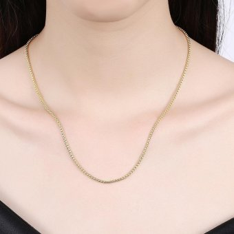 18k Gold Plated Long Chain Necklace - intl - 2