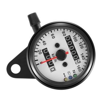 1pc Universal Motorcycle Odometer Speedometer Gauge Dual Digital Display KM/H - intl - 3