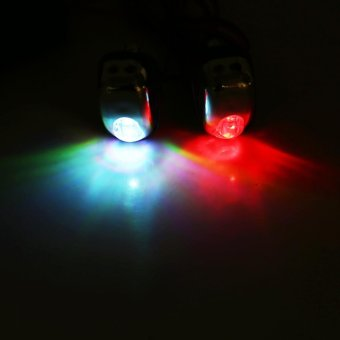 2 Pcs 12V Vehicle Hood Windshield Spray Nozzle With LED LightsSeven Color - intl - 2
