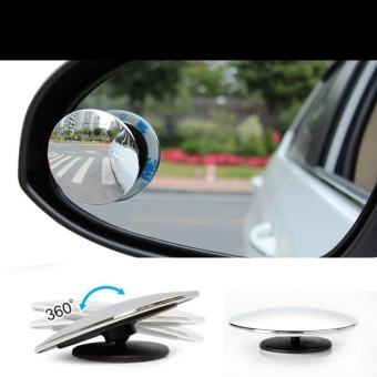 2 PCS Blind Spot Mirror Round HD Convex Rear View MirrorColor:Abyss - intl