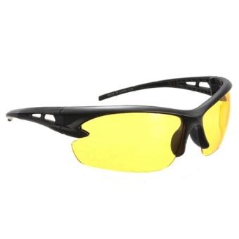 2 pcs Yellow Lens Night Vision Goggles Sunglasses Driving Riding Sport Glasses UV400 - 3