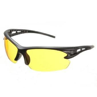 2 pcs Yellow Lens Night Vision Goggles Sunglasses Driving Riding Sport Glasses UV400 - 4