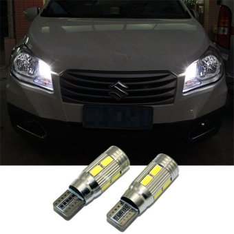 2 X T10 LED W5W Car LED Auto Lamp 12V Clearance Parking Light bulbswith Projector Lens for suzuki grand vitara swift sx4(white light)- intl