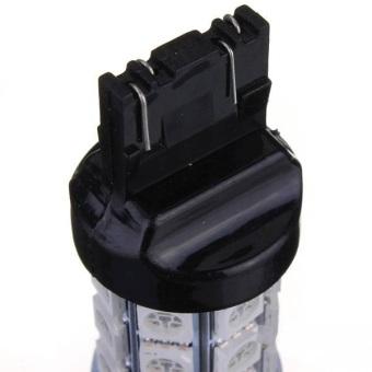 2 x T20 7443 4057 5050 SMD 27 LED Car Brake Tail Stop Light Bulbs - 4