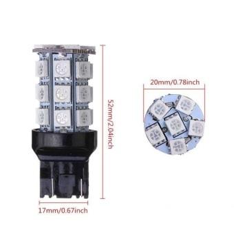 2 x T20 7443 4057 5050 SMD 27 LED Car Brake Tail Stop Light Bulbs - 5