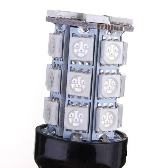 2 x T20 7443 4057 5050 SMD 27 LED Car Brake Tail Stop Light Bulbs - 3