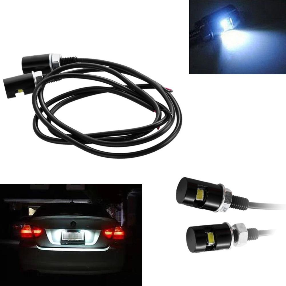 ... 2 X UNIVERSAL LED NUMBER PLATE TAIL TIDY LIGHTs CAR MOTORCYCLE BOLTLIGHT - intl ...