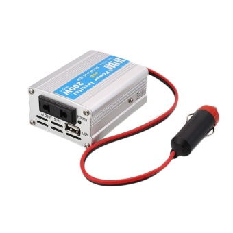 200W Car Power Inverter USB Converter DC 12V To AC 220V Overload Protect Compact - intl