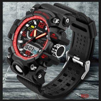 2016 High Quality SANDA 732 Multifunctional Outdoor SportsWaterproof Shockproof Electronic Watch(red) - 3
