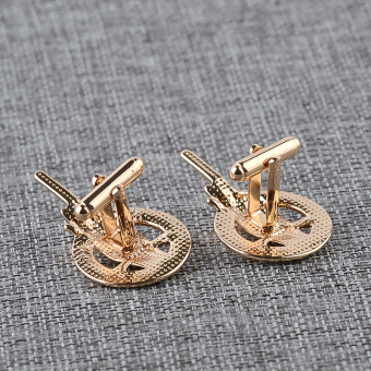 2016 NEW game of thrones 3.9X2.2CM hand of the king golden alloy Cufflinks for mens cosplay props cuff buttons shirt cuff links A - Intl - 4