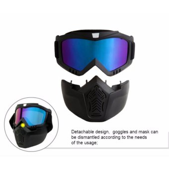 2017 Brand New Men Women Ski Snowboard Eyewear Motorcycle MotocrossRacing Goggles Outdoor Sports Skiing Glasses Mask Sunglasses(Colorfur Lens) - 3
