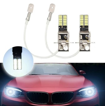 2017 H3 6500K High Power White LED High Power Bulb DRL Fog Light Driving DC 12V - intl