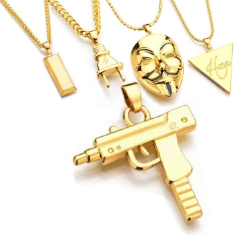 Where to buy 2017 mens new punk mask plug pendants necklace gold 2017 mens new punk mask plug pendants necklace gold silver bar hiphop jewelry gold intl aloadofball Gallery