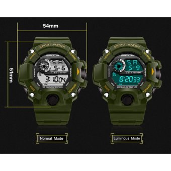 2017 New SANDA Army Watch Men Water Resistant Mens Watches Top Brand Luxury Date Calendar LED Sports Watches relogio masculino 326 - intl - 5