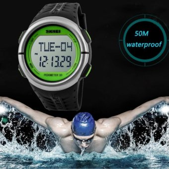 2017 Popular Pedometer Heart Rate Monitor Calories Counter Led Digital Sports Watch SKMEI Fitness For Men Women Outdoor Military Wristwatches 1058 - intl - 4