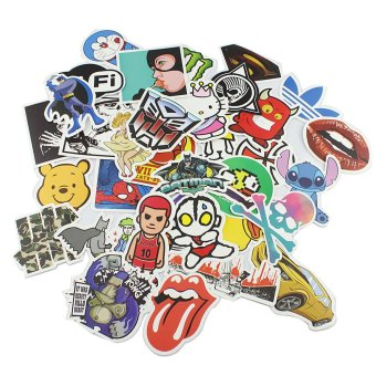25 stickers Skateboard Vintage Vinyl Sticker Laptop Luggage Car Decals mix
