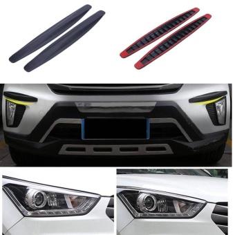 2pcs Car Auto Bumper Protector Corner Guard Anti-ScratchStrips(Black) - intl - 4