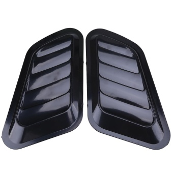 2Pcs Car Decorative Air Flow Intake Vent Cover Hood Fender Universal Black - intl