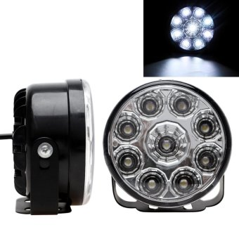2pcs DC 12V 9 LEDs Round Auto Fog Lamp Car DRL LED Daytime Running Lights - intl