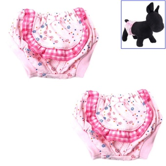 Philippines | 2PCS Female Dogs Diaper Sanitary Physiological Pants WashableMenstruation Underwear Panties - intl Compare Prices