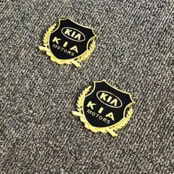 2pcs Golden Emblem Badge for Kia Cars - 3