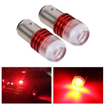 2Pcs Red 1157 2357 Strobe Flashing LED Projector Bulbs For Car Tail Brake Lights - intl - 4