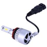 2pcs S2 Automobile LED Headlight Car Front Beam Bulbs(Silver)-H11/H9/H8 - intl