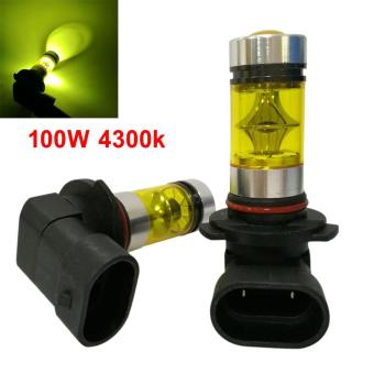2Pcs / Set 9006 HB4 100W 4300K Yellow Light Car Fog Driving LED Bulbs - intl