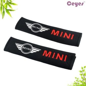 2pcs/set Universal Cotton Seat belt Shoulder Pads covers emblemsfor BMW Mini r55 r56 r58 r60 cooper countryman Badges autoaccessories Car-styling Fit all cars - intl - 3