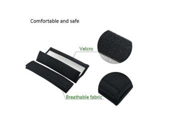 2pcs/set Universal Cotton Seat belt Shoulder Pads covers emblemsfor BMW Mini r55 r56 r58 r60 cooper countryman Badges autoaccessories Car-styling Fit all cars - intl - 4