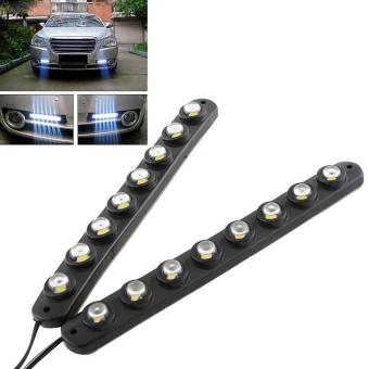 2x Car Van 8 LED Safe DRL Daytime Running Light Daylight Fog Lamp DC12V - intl