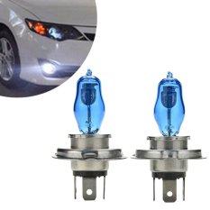2X H4 HEADLIGHT GLOBES CAR LIGHT BULBS 6000K 100/90W 12V XENON SUPER WHITE -