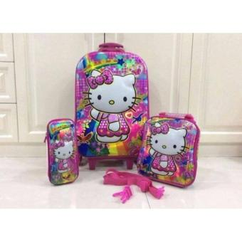 3 in 1 HELLO KITTY Backpack Trolley School Bag Price Philippines