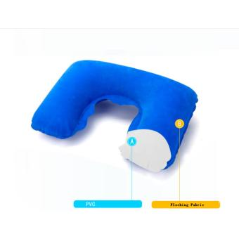 3 IN 1 Travel Essential Inflatable Pillow+Patch+Earplug Travel SetInflatable Neck Cushion Pillow + Eye Patch+Earplug for Travel - 2