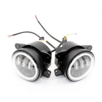 30W 4 Inch Car Led Fog Light Lamp Headlight High Power For OffroadJeep Wrangler Jk Harley Daymaker W/ Halo Ring Auto - intl - 3